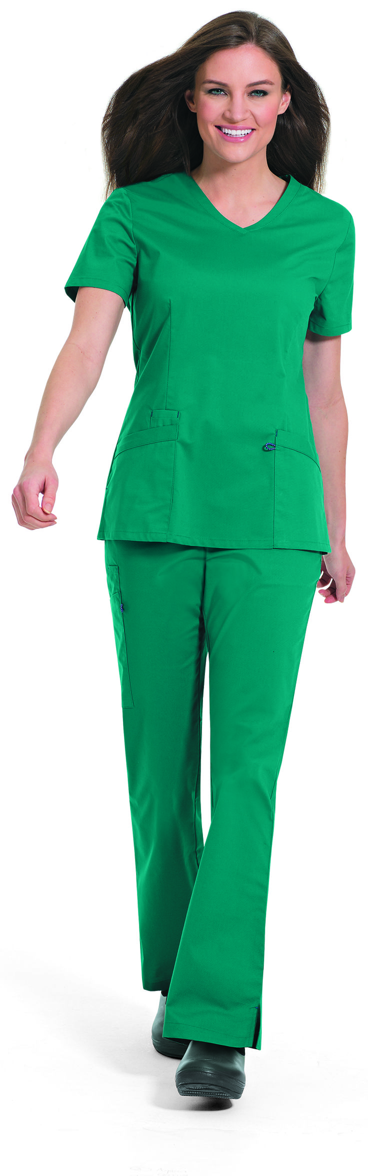 NEW! WorkFlow's 4115 Stretch V-Neck Tunic. Available in 10 colors.#landau #uniforms #medical #fashion #scrubs #workflow #stretch #mens #womens #styles #doctor #nurse #nursing #school #student #groups #vet #tech #assistant #rsvlmedical #trend