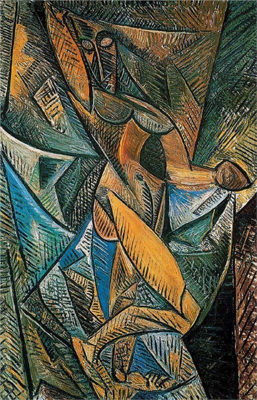 Dance of the Veils (1907) by Pablo Picasso  DANS DE VOALURI   se ve perfectamente la sensacion de velos en movmiiento
