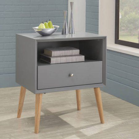 Chelse Lane Adlai Side Table with Drawer, Multiple Colors, White