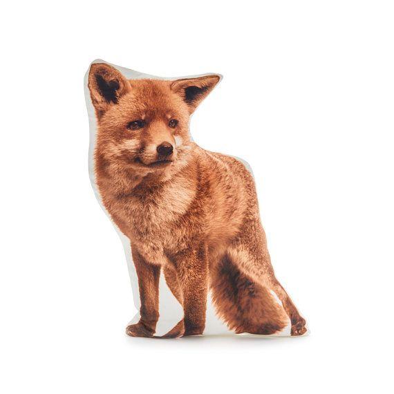 Fox pillow  fox cushion fox boys farmhouse decor boys