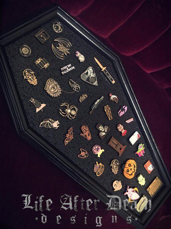 Coffin Pin Board, Lapel Pin Display, Lapel Pin, Enamel Pin
