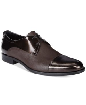 Hugo by Hugo Boss Men's Sigma Metallic Derby - Brown 10.5