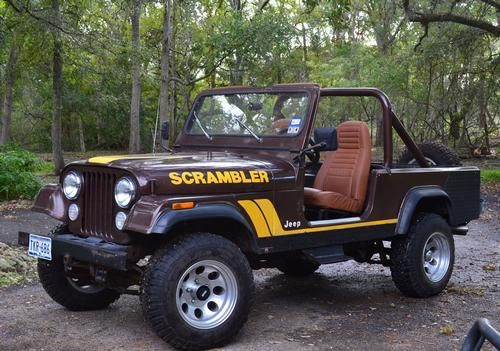 1982, Jeep Scrambler CJ8  In very good condition, V8 with less than 10,000 miles on engine, Original miles 85,600, 4 speed manual, 4x4, Spray in bed liner throughout vehicle, Original paint, Goodyear wrangler MT/R tires, Soft top, Garage Kept. - See more at: http://www.cacars.com/1003700.html#sthash.lzCOi3DP.dpuf