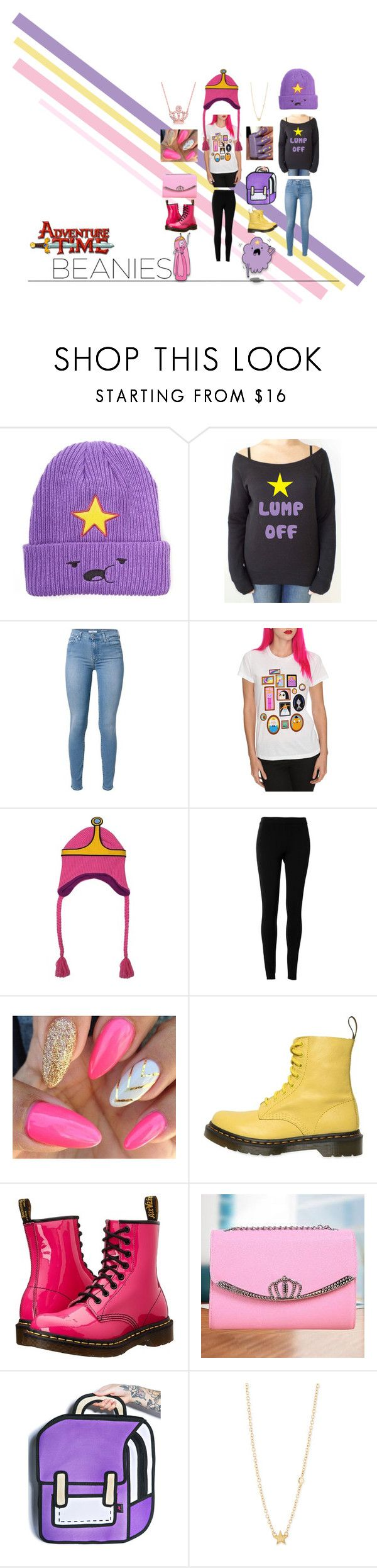 """Hat Head: Beanies (Adventure Time)"" by cheung-fashion ❤ liked on Polyvore featuring Max Studio, Dr. Martens, Talega and Sydney Evan"