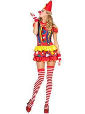 Adult+Sexy+Bubbles+the+Clown+Costume