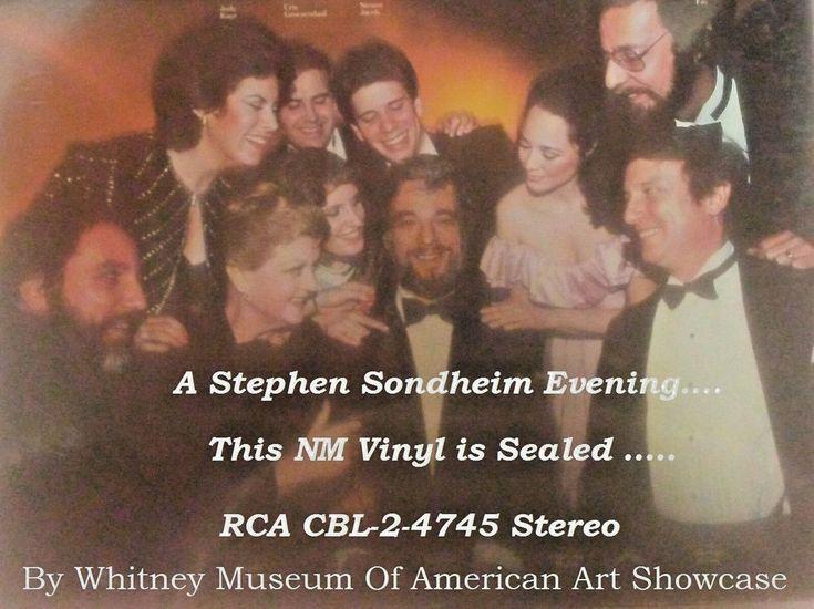 A Stephen Sondheim Evening, Live 1983, RCA Records, CBL2-4745  2 LPs SEALED #MusicalOriginalCast