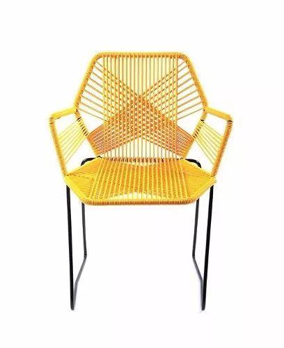 sillas acapulco ( vinilos flexibles) silla tejida hexagonal