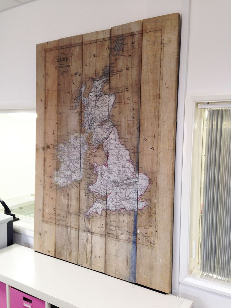 UV Direct print to scaffold boards.  White Ink