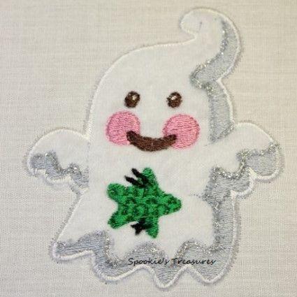 STE010_02  http://www.spookiestreasures.com/products/applique-little-ghost-4x4-2