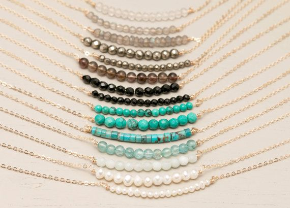 Hey, I found this really awesome Etsy listing at https://www.etsy.com/listing/156499794/delicate-gemstone-necklace-simple