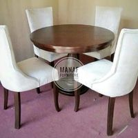 meja makan, kursi makan, set meja makan 4 kursi, meja bulat