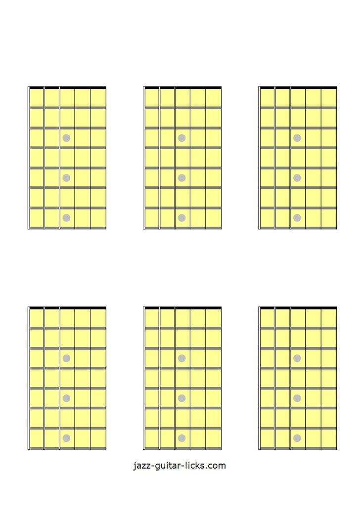 6 blank guitar chord diagrams   Learn guitar, Guitar fretboard