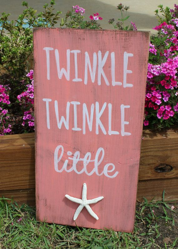 Beach Decor Twinkle Twinkle Little Star Sign by xBeyondBlessedx