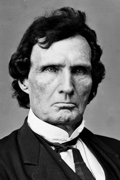 Thaddeus Stevens; 1792-1868; Radical Republican Congressman from Lancaster, Pennsylvania; the most outspoken and effective Congressional leader opposing slavery; he refused to be buried in a white cemetery; he was an Underground Railroad conductor and helped draft and pass the 14th Amendment which granted citizenship to slaves, overturned the Dred Scott Ruling, and guaranteed due process and equal protection in all the states. It was adopted on July 9, 1868, long after Lincoln was dead.