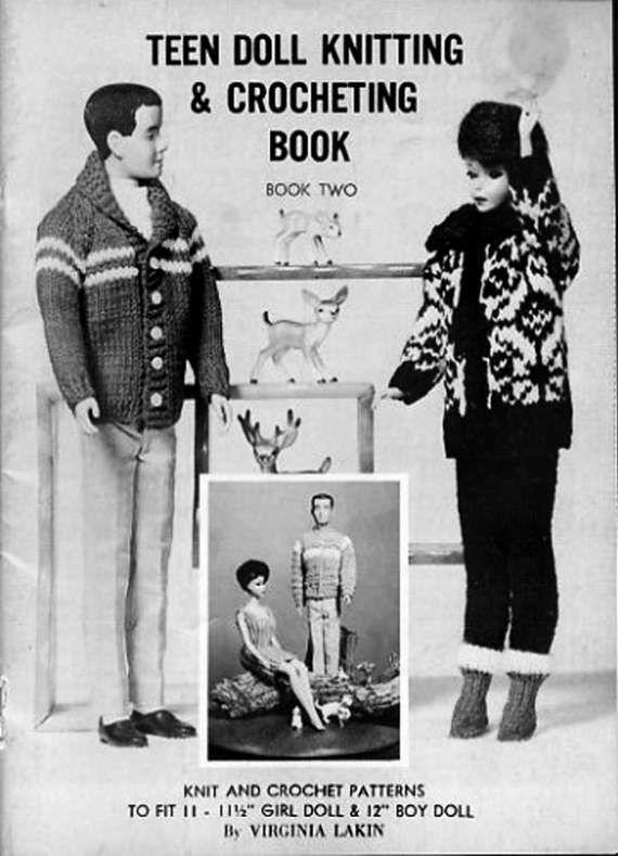 PDF Vintage Barbie Sindy Doll Clothes Knitting & Crochet