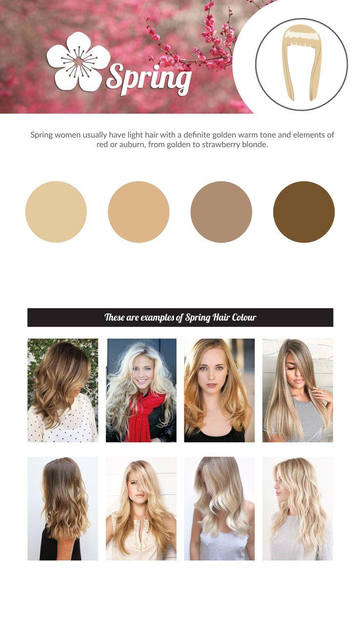 SPRING Hair Colour Chart.