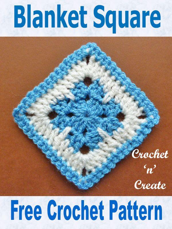 Free Crochet Pattern Blanket Square Uk Crocheting Pinterest