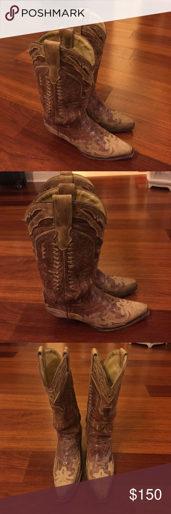 ⚜️Corral sniptoe cowgirl boots Corral sniptoe cowgirl boots size 6-1/2 corral Shoes Heeled Boots