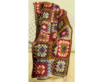 Eight Color Throw (Crochet)
