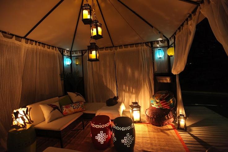 Want To Add Curtains To Canopy Love The Lights In The