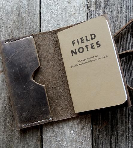 Leather Notebook Cover by Stock & Barrel on Scoutmob Shoppe