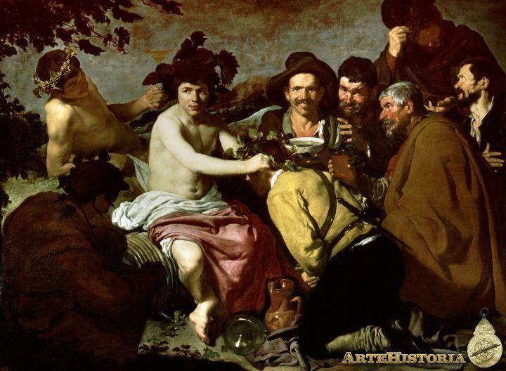 VELAZQUEZ. Los Borrachos, El Triunfo de Baco - 1628-29.