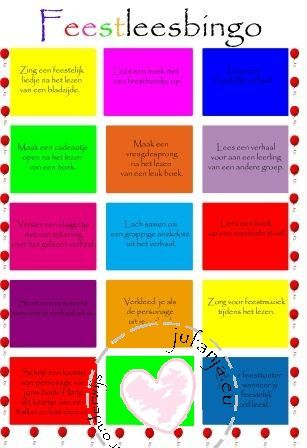 Feest lees bingo! Een leuke manier om het lezen in de klas te promoten.