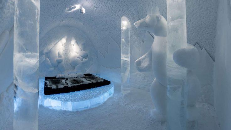 Für 170 000 Euro kann man ein Hotelzimmer aus Schnee mitgestalten – Werden Sie Eis-Designer in Schweden!