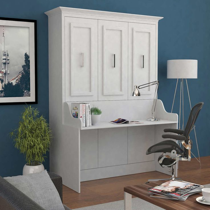 Bed Room Porter Full Portrait Wall, Bed & Room Porter Queen Portrait Wall Bed With Desk