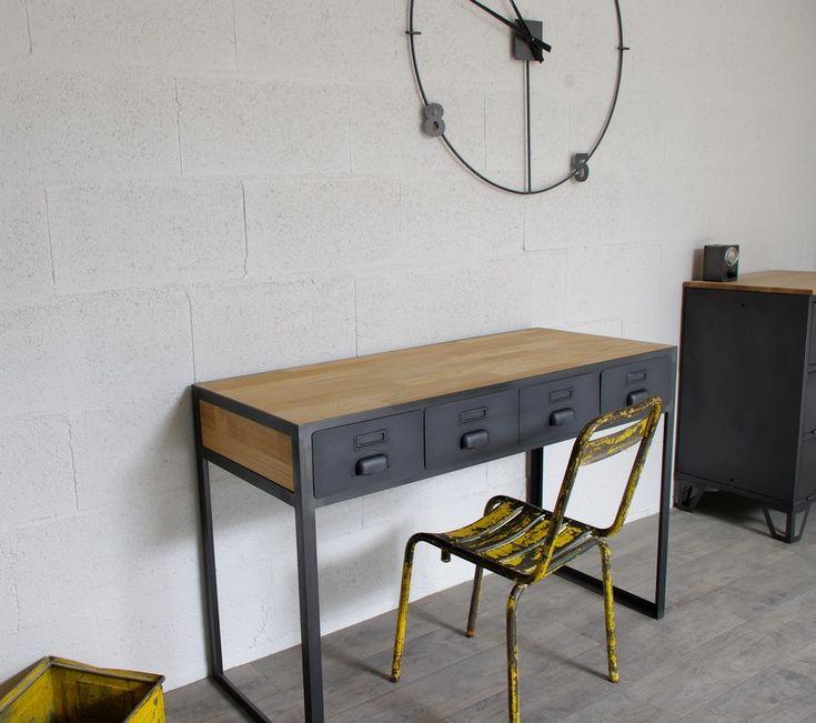 17 meilleures id es propos de bureau industriel sur pinterest bureaux bureau rustique et. Black Bedroom Furniture Sets. Home Design Ideas