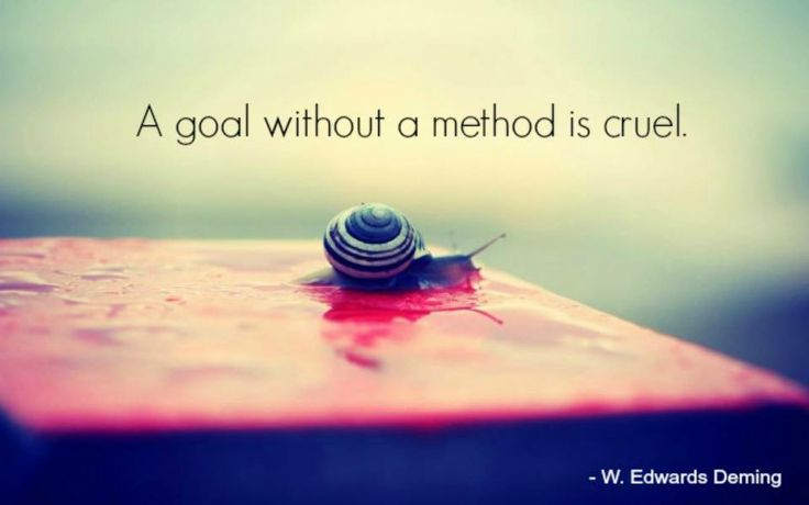 """""""A goal without a method is cruel"""". - W Edwards Deming  #business #consulting…"""