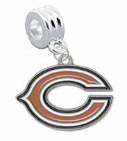 """Chicago Bears Charm with Connector - Universal Slide On Charm - """"Classic & Original Style"""" - Fits: Pandora, Troll, Biagi & More! Perfect For Custom Bracelets, Necklaces and DIY Jewelry CustomCharms. $12.99. UNIVERSAL Slide On Charm - Does Not Snap or Scew in Place, SLIDE ON CHARM. Officially Licensed Team Logo Charm. Fits: Pandora, Chamilia, Biagi, Troll & More. Perfect for Custom Bracelets & Necklaces. Save 68%!"""