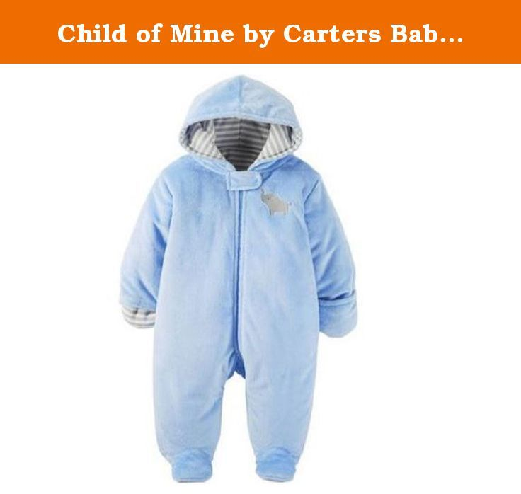 Child of Mine by Carters Baby Pram Boy and Girls Sizes (0-3 Month, LIGHT BLUE). Carters Baby Hooded Pram and Puffer Collection. Machine washable soft fabric is 100% polyester shell, 100% cotton fill Faux Fur. It's extra-roomy fit also makes it easy to layer clothing underneath, so it's ideal for all those indoor-outdoor occasions. The Carters pram has a full-length zipper closure and it's available in different colors. These warm high quality prams make the best baby shower gifts…