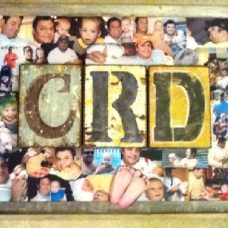 Hubby and our 1st son share the same initials. A collage all about their first year together.