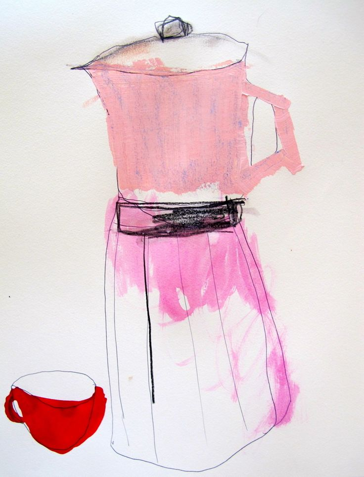 Image of kitchen drawings- coffee pot