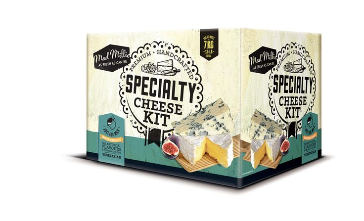 Mad Millie's Specialty Cheese Kit. You could make your own Blue Cheese or Camembert.