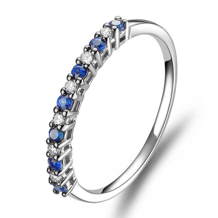 Faixas De Casamento: Diamante Acessível E Faixa De Casamento De Safira | Wedding