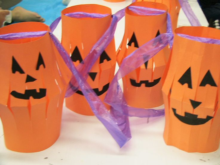 preschool crafts for kids halloween paper lantern craft - Halloween Art For Kindergarten