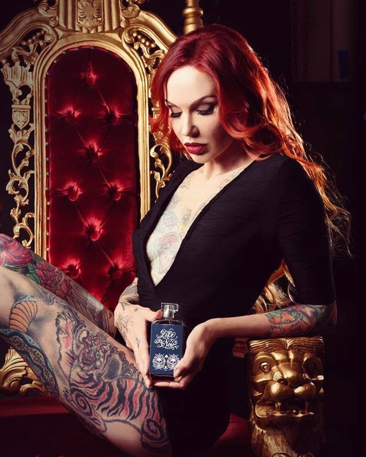 The sexy Lea Vendetta showing off her new men's fragrance for Life in Now. #lifeisnow.com #lifeisnow #lifeisnowfragrances #tattoofragrance #tattoo #tattooartist #tattoomodel
