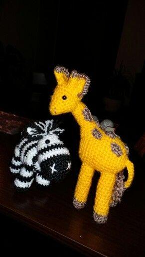 Cebra y jirafa para mi Leito