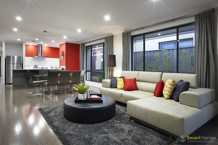 living and kitchen  #interiordesign by #SmartHomesForLiving