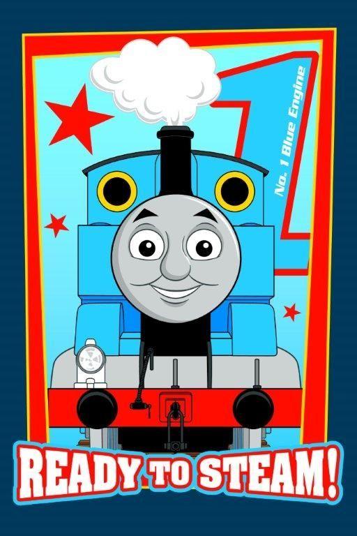 Dziecięcy ręcznik niebieski z pociągiem Thomasem