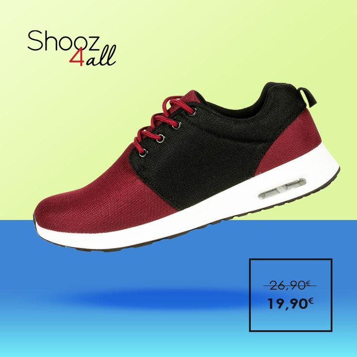 Ελαφριά, άνετα και στυλάτα ανδρικά αθλητικά παπούτσια σε μπορντώ χρώμα με μαύρη λεπτομέρεια. Από μαλακό ύφασμα mesh για ευχάριστη αίσθηση, διαθέτουν αερόσολα για απορρόφηση των κραδασμών. http://www.shooz4all.com/el/andrika-papoutsia/athlitika-papoutsia-bordo-gf-38-detail #shooz4all #andrika #athlitika