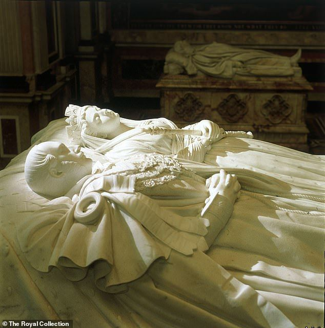 Burial site: The effigies of Queen Victoria and Prince Albert at the Mausoleum at Frogmore