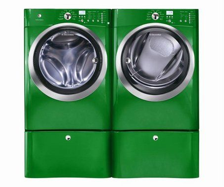 This eco-friendly Electrolux washer and dryer uses up to 56% less water and is 83% more energy efficient than older machines. And the wash time is only 18 minutes!