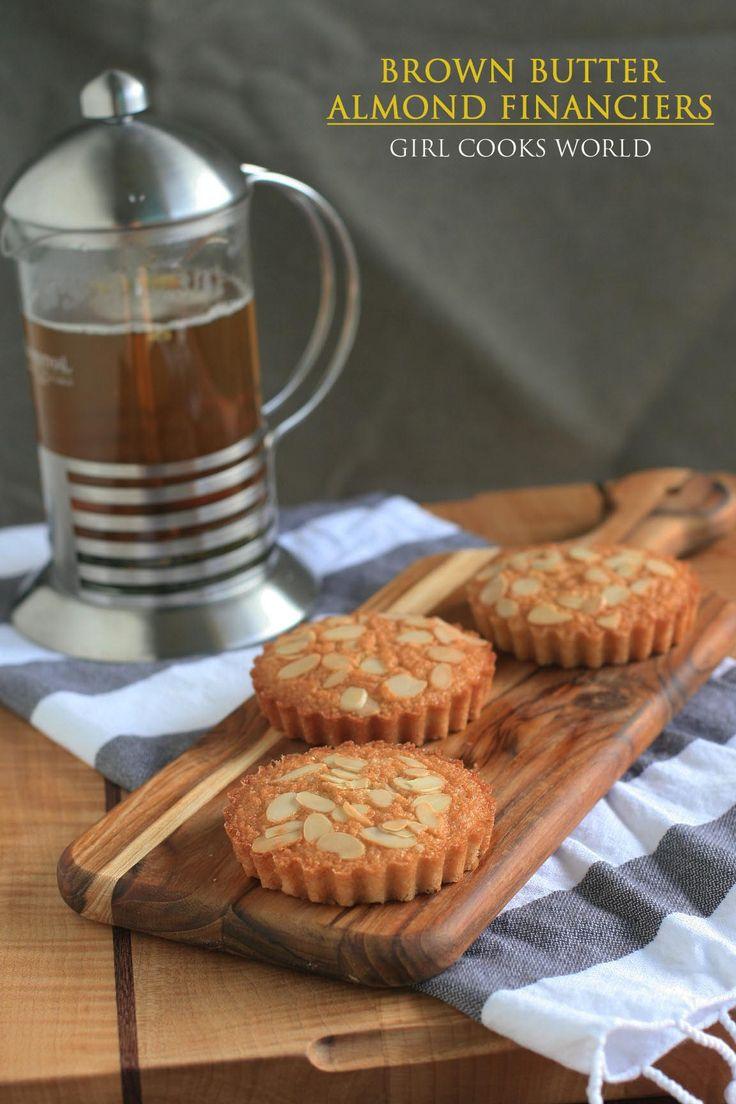 Gluten-Free Brown Butter Almond Financiers | Girl Cooks World