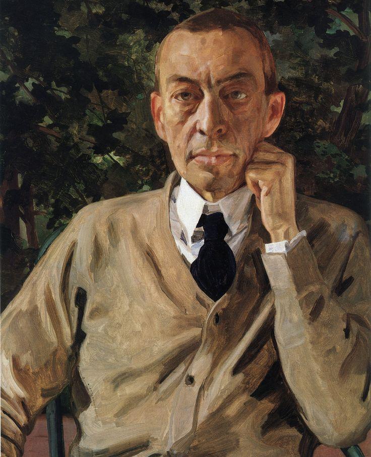 Сомов. Портрет С.В.Рахманинова. 1925