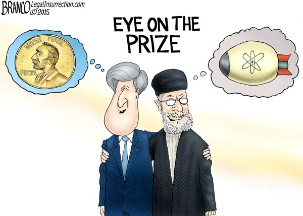 Kerry Nobel Peace Prize By A.F. Branco on Legal Insurrection