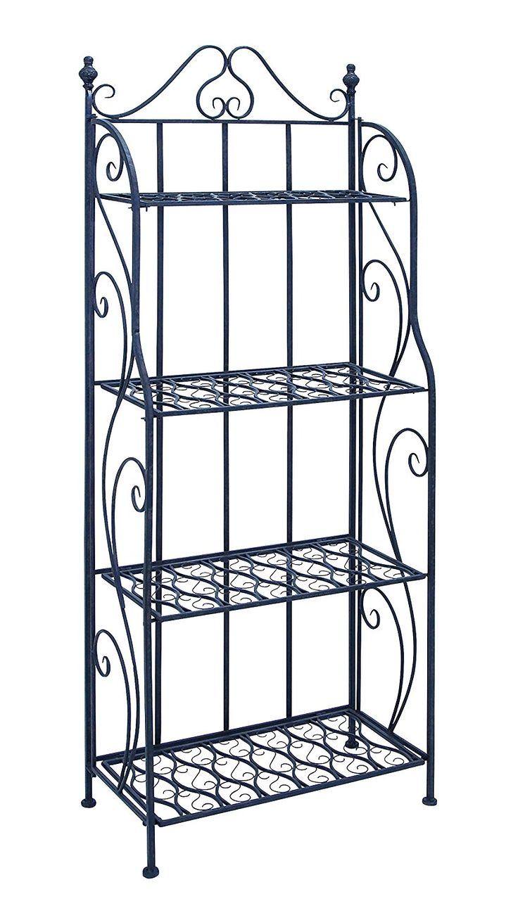 Benzara Bakers Rack with Classic Design, 28 by 28 by 28-Inch, Black * Startling review available here  : Food Service Equipment Supplies