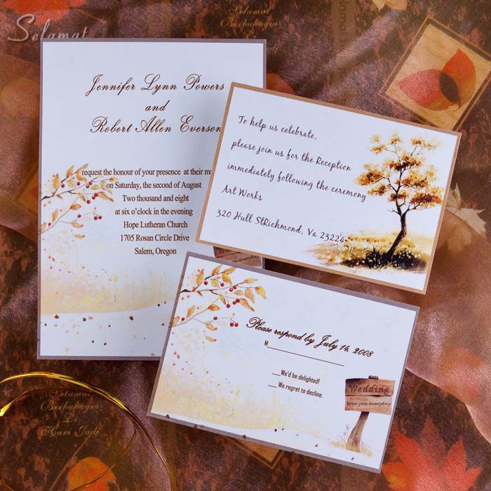wedding card invitation cards online%0A Invitationstyles offers the cheap fall wedding invitations and autumn wedding  invites to match any wedding theme and any wedding budget